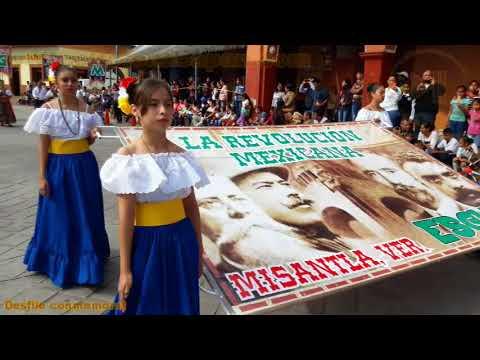 Desfile conmemorativo por el 107 Aniv. de la Rev. Mexicana en Misantla, Ver.
