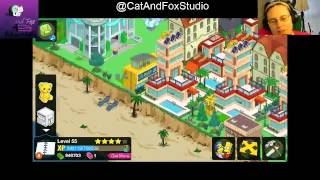 "Thanks for Joining Cat and Fox for another gaming Lets Play! ^_^Simpsons Tapped Out! Lvl 55 halfway point! (approx.), Jenna reveals something coming (possible on Tuesday/ tomorrow (for those of you watching this on the day it airs)... and she plugs away at ehe West side and almost enough virtual money for the Woosterfield Hotel and about to unlock Nelson in the L.A. Body Works ^_^The Simpsons Tapped Out popular Forums: http://tstoaddicts.com/http://tstoforum.com/http://forum.ea.com/eaforum/forums/show/4127.page (Finding friends forum)50% of all proceeds go to the ""No Trans Left Behind"" non-for-profit,Thank you very much, a virtual musical hugs if you have donated:https://www.paypal.com/cgi-bin/webscr?cmd=_s-xclick&hosted_button_id=48QLEPMQM2PU8"
