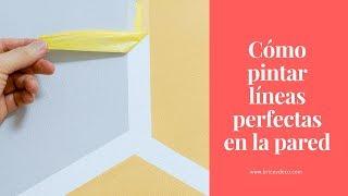 Cómo Pintar Líneas Perfectas en la Pared con Hexágonos   BRICOYDECO BRICOLAJE DECORACION
