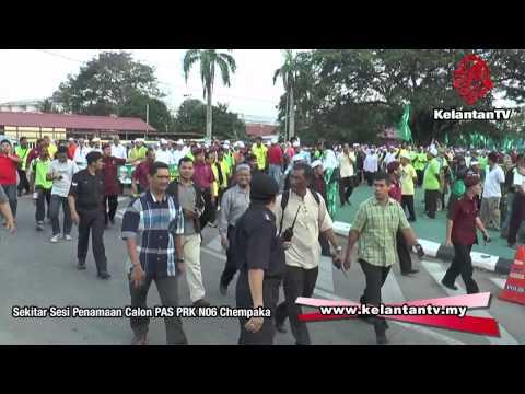 PRK N06- Sekitar Sesi Perarakan Calon dan Penyokong PAS