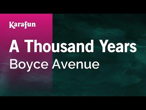 Karaoke A Thousand Years - Boyce Avenue *