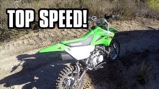7. 2018 KLX 110L TOP SPEED TEST!