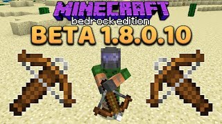 Minecraft 1.14 Preview: The Crossbow!!! (Bedrock Beta 1.8.0.10)