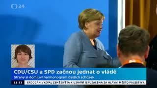 CDU/CSU a SPD začnou jednat o vládě