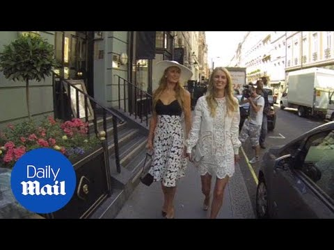 Paris And Nicky Hilton Dine Out In London Before Wedding - Daily Mail