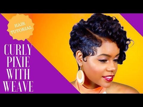 Short hair styles - How To Style A Curly Pixie w/ Weave  Relaxed Short Hair  Hair Tutorial  Leann DuBois