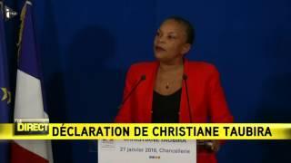 """Video Christiane Taubira: """"je quitte le gouvernement sur un désaccord politique majeur"""" MP3, 3GP, MP4, WEBM, AVI, FLV September 2017"""