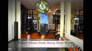 Exercise Index: Power Clean from Hang Over Knees