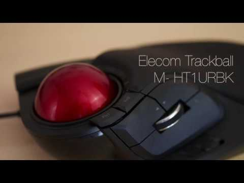 Elecom Trackball  M-HT1URBK / M-HT1DRBK. Comparison to Kensington Orbit trackball