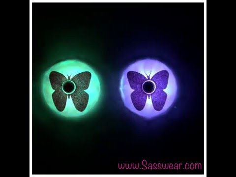 Light Up LED Pasties- Butterflies Colorful Slow Change LED's