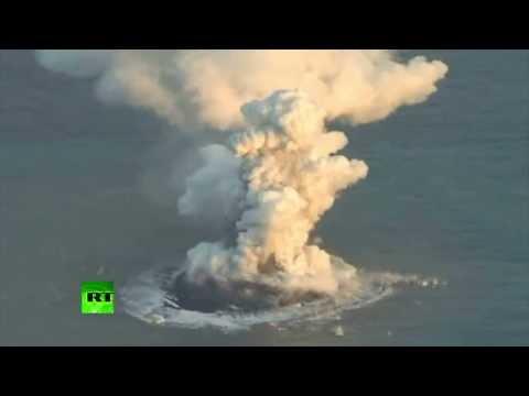 El espectacular nacimiento de una isla en Japón