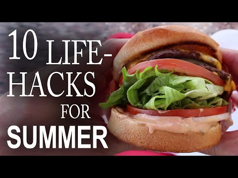 hacks - 10 amazing tips and tricks you can use to impress your friends, and make your summer a little easier. http://www.thekingofrandom.com In this video you'll see...