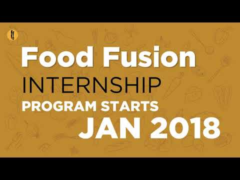 Food Fusion Internship Program 2018