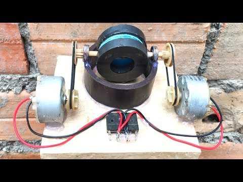 Mini Generator Self Running Machine Using DC Motors , Free Energy 2019