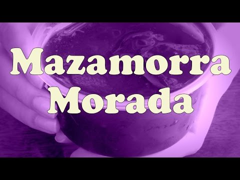 VIDEO: Eating Mazamorra Morada