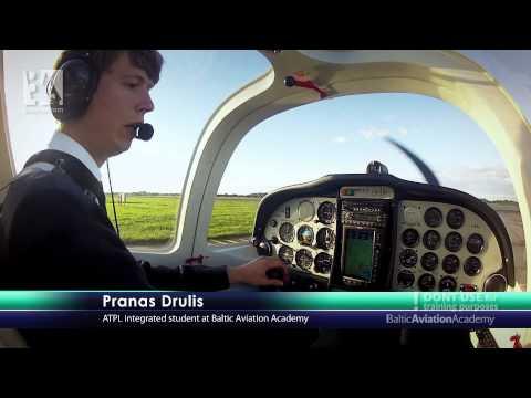 Baltic Aviation Academy's Tecnam: From Taxiing to Landing (видео)