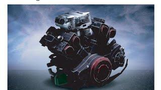 9. Yamaha V-MAX Papercraft - Parte 01 Motor