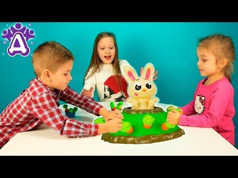 Прыгающий кролик Джек игры для детей распаковка.Jumping Jack Game Games for children Видео для детей (видео)