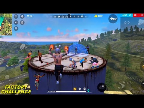 FREE FIRE FACTORY ROOF FIST FIGHT - FF KING OF FACTORY CLASH SQUAD FUNNY GAMEPLAY - FREE FIRE game