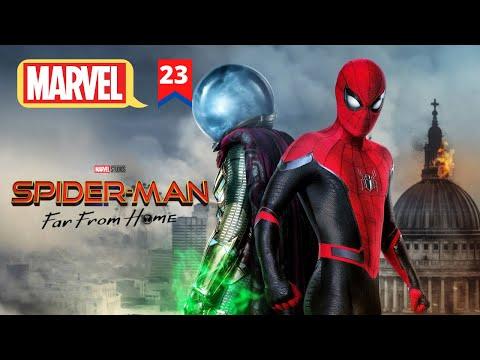 Spiderman Far From Home Explain In HINDI   MCU Movie 23 Explain In HINDI