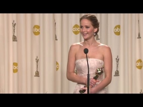 Jennifer Lawrence funny oscar interview.