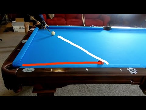How To Cut Pool Balls BACKWARDS!!