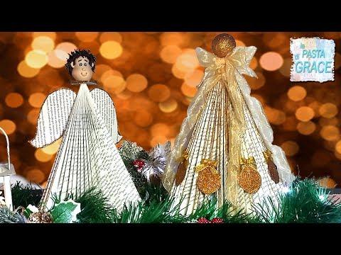 Come fare un Angelo o un albero di Natale con pagine di libro