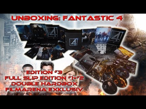 Unboxing - Fantastic 4 - Full Slip - Edition #3 - Double Hardbox - Filmarena exklusiv
