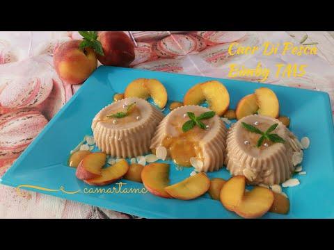 cuore di pesca con budino alla vaniglia: 100% vegano e senza glutine