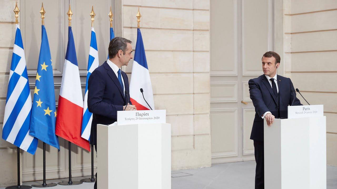 Κοινές δηλώσεις Κυριάκου Μητσοτάκη – Emmanuel Macron στο Παρίσι