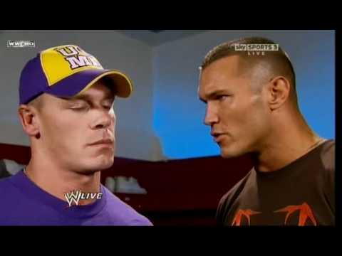 WWE RAW 18/10/2010 John Cena & Randy Orton Backstage Segment