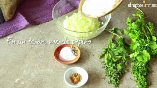 Cómo hacer dip de yogurt y pepino