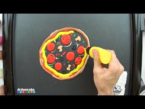 Pizza Pancake Art