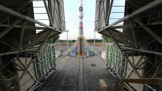 The Russian Soyuz vehicle lifted off for the first time from its new launch complex at Europe's Spaceport in French Guiana on 21...