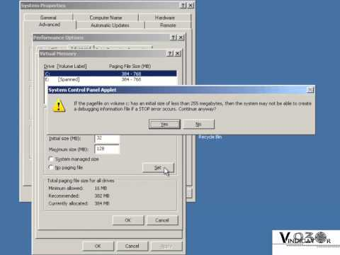 Performance Tuning - Virtual Memory (Windows Server 2003)