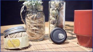【超低コストDIY】セリア商品で空き瓶がナチュラル雑貨に大変身!