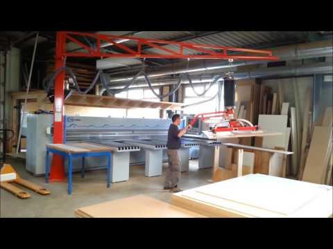 Manutention de panneaux pour alimentation scie à plat