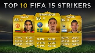 Top 10 FIFA 15 Strikers   Ibrahimović, Falcao, Aguero!   #FIFA15FRIDAY