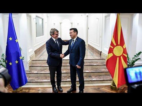 Ο πρόεδρος του Ευρωκοινοβουλίου στηρίζει τη Βόρεια Μακεδονία…