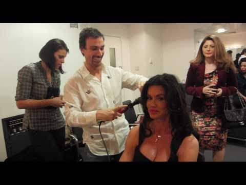 Long Medium Hairstyles With Supermodel Janice Dickinson: Curly Wavy Hair Tutorial