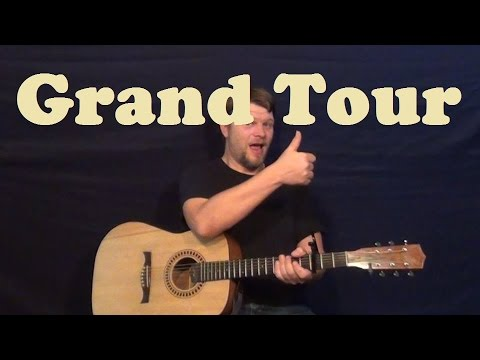 Grand Tour (George Jones) Easy Guitar Lesson How to Play Tutorial Chord Strum