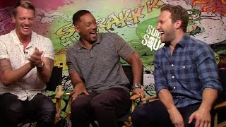 Video Suicide Squad: Joel Kinnaman, Will Smith and Jai Courtney crack up during interview MP3, 3GP, MP4, WEBM, AVI, FLV Mei 2018