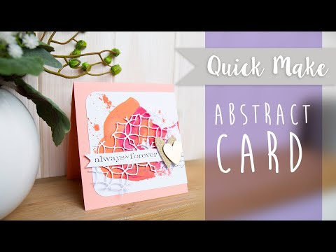 Create An On Trend Abstract Card - Sizzix