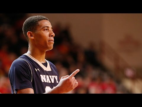 Navy's Shawn Anderson Soars Down The Lane For The Dunk | CampusInsiders (видео)