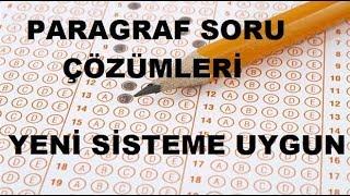 paragraf soru çözümleri sınav formatına uygun ygs  lys  kpss  dgs  ales