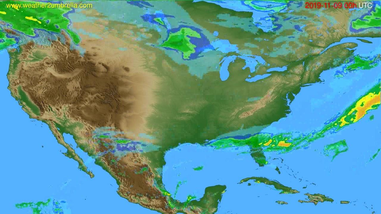 Radar forecast USA & Canada // modelrun: 12h UTC 2019-11-08