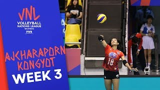 Incredible Ajcharaporn Kongyot with 30 Made vs. Bulgaria | Volleyball Nations League 2019