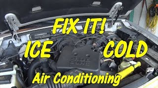 Video FREE FIX - How to Diagnose and Adjust an A/C Compressor Clutch in Car Truck - Blows Cold Then Warm MP3, 3GP, MP4, WEBM, AVI, FLV Agustus 2019