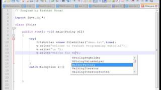 how to write  text file using java  java program write text file steps to write text file using javaJava Read and write text files  YouTubemore tutorial visit http://javaprogram99.blogspot.in/