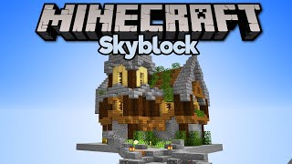 Building a House in Skyblock! • Minecraft 1.15 Skyblock (Tutorial Let's Play) [Part 12]